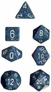Dice Set Speckled Sea (7)