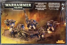 Warhammer 40K Space Marines: Space Marine Scouts with Sniper Rifles (5 figures) 48-29