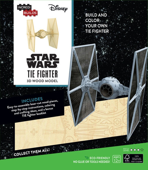 Incredibuilds Star Wars Tie Fighter 3D Wood Model
