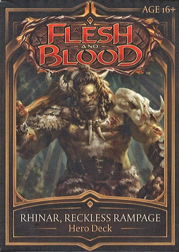 Flesh and Blood TCG Welcome to Rathe Hero Deck Rhinar, Reckless Rampage (Brute)