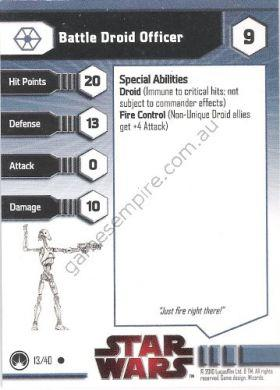 Masters of the Force 13 Battle Droid Officer