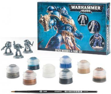 Warhammer 40K Space Marines: Space Marines + Paint Set 60-11