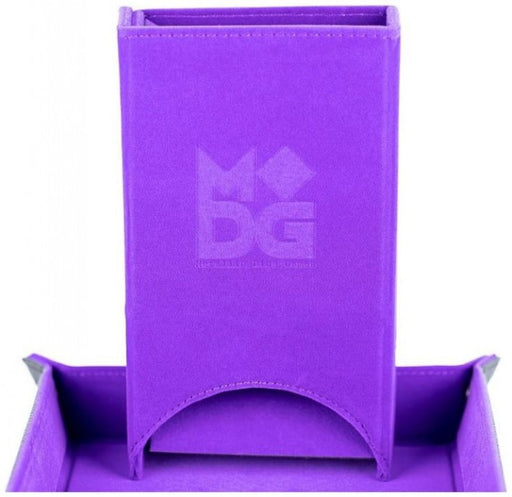 MDG Fold Up Velvet Dice Tower Purple