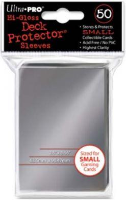 Ultra Pro Deck Protectors, Hi-Gloss - Standard Size (Small Card Fit) - Silver