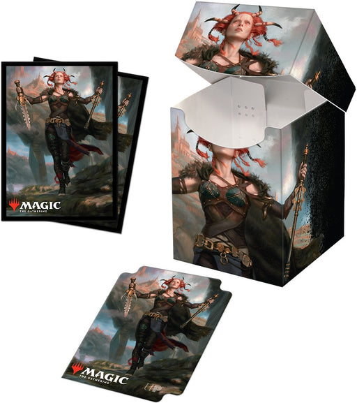 Ultra Pro Magic The Gathering Commander Legends Jeska, Thrice Reborn 100+ Deck Box and 100ct sleeves