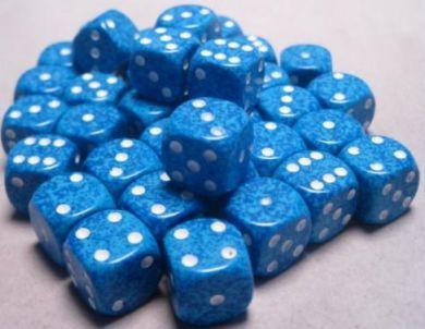 Dice Speckled 12mm D6 Water (36)