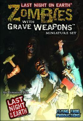 Last Night on Earth Zombies with Grave Weapons Miniatures Set