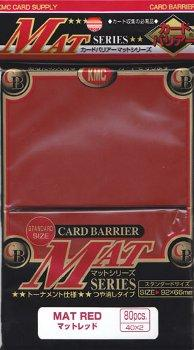 KMC Card Sleeves Matt Red (80)