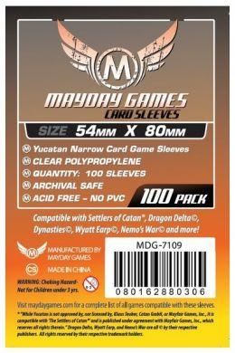 Mayday Games 54 X 80 mm - 100 Pack Yucatan Narrow Card Sleeves