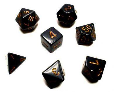 Dice Set Opaque Dark Grey/Copper (7)