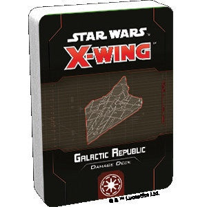 Star Wars X-Wing 2nd Edition Galactic Republic Damage Deck