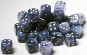 Dice 12mm D6 Phantom Black w/silver