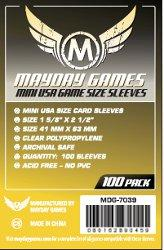 Mayday Games Mini USA Yellow Sleeves (100)
