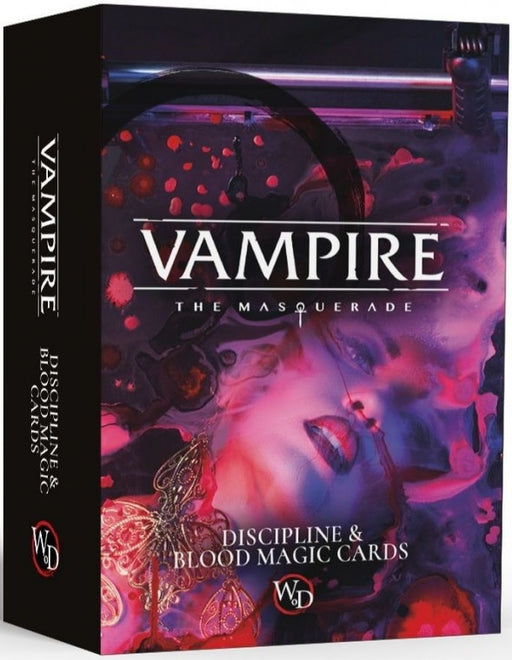 Vampire the Masquerade RPG Discipline and Blood Magic Card Deck
