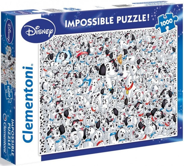 Clementoni Puzzle Disney 101 Dalmatians Impossible Puzzle 1000 pieces