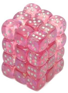 Dice 12mm D6 Easter Pink w/gold (36)