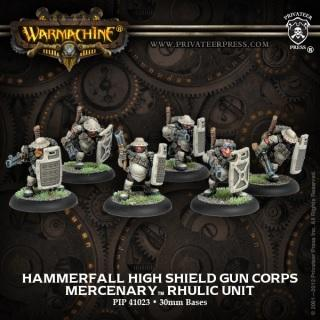 Warmachine Mercenaries Hammerfall High Shield Gun Corps Unit ON SALE