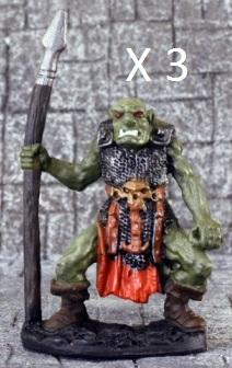 Asylum Miniatures: Orc Spearmen (3)
