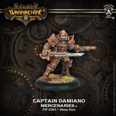 Warmachine Mercenaries Captain Damiano ON SALE