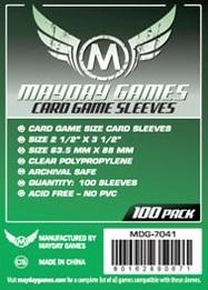Mayday Games 63.5 x 88 mm - 100 Pack Card Sleeves
