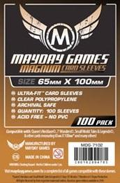 Mayday Games Magnum Ultra-Fit Copper Card Sleeves - 65 x 100 mm (100) Brown
