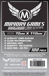 Mayday Games Magnum Silver Ultra-Fit Card Sleeves - 70 x 110 mm (100)