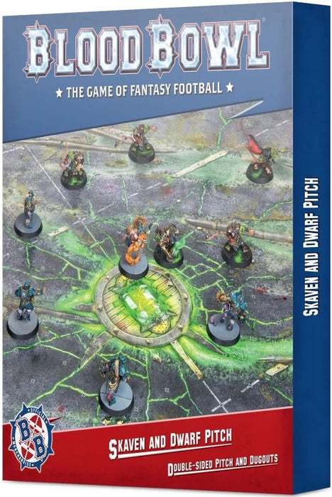 Blood Bowl Skaven and Dwarf Pitch