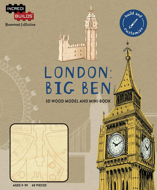 Incredibuilds Monument Collection London Big Ben 3D Wood Model