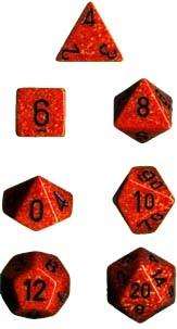 Dice Set Fire Speckled (7)