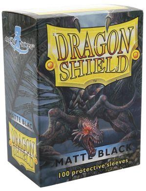 Dragon Shield 100 Count Standard Matte Sleeve: BLACK