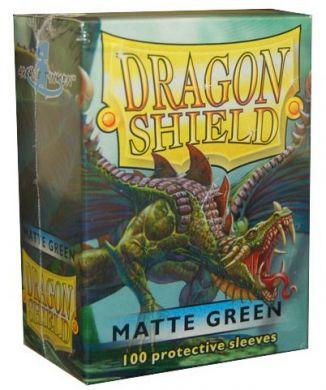 Dragon Shield 100 Count Standard Matte Sleeve: GREEN