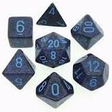 Dice Set Cobalt Speckled (7)