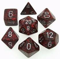 Dice Set Silver Volcano Speckled (7)