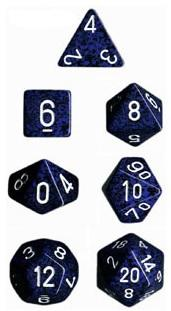 Dice Set Stealth Speckled (7)