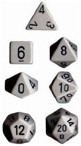 Dice Set Opaque Dark Grey/Black (7)