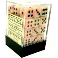 D6 Dice Festive 12mm Circus/Black (36 Dice in Display) CHX27842
