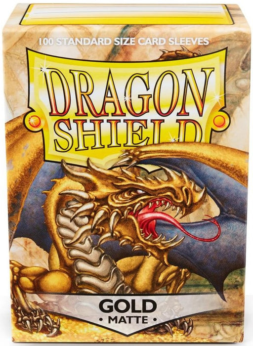 Dragon Shield 100 Count Standard Matte Sleeve: Gold