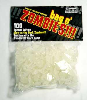 Zombies!!! Bag o' Zombies Glow in the Dark!