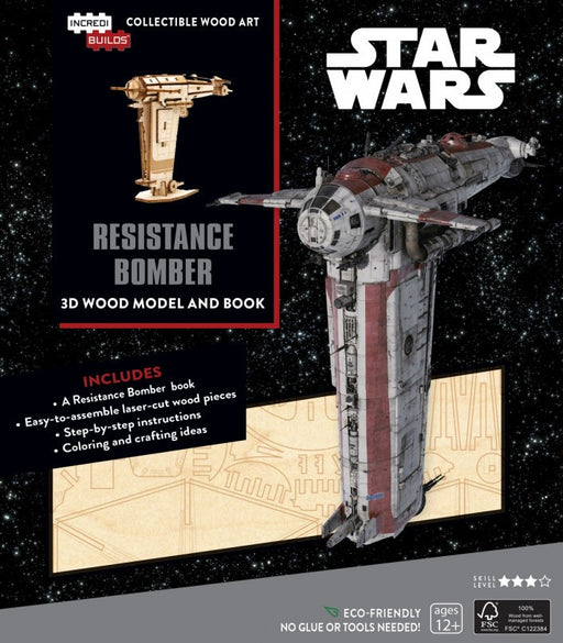 Incredibuilds Star Wars Resistance Bomber Book and 3D Wood Model