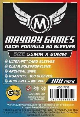 "Mayday Games ""Race! Formula 90"" Card Sleeves - 55 x 80mm (100)"