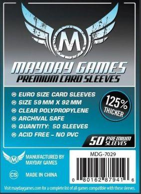 Mayday Games Euro Card Sleeve Premium 59 x 92mm (50)