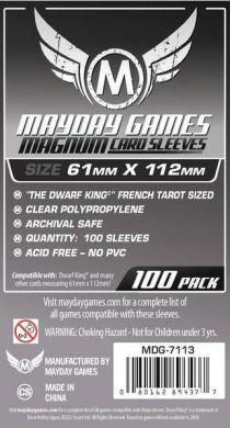 "Mayday Games ""Dwarf King"" French Tarot Card Sleeves Magnum - 61 x 112mm (100)"
