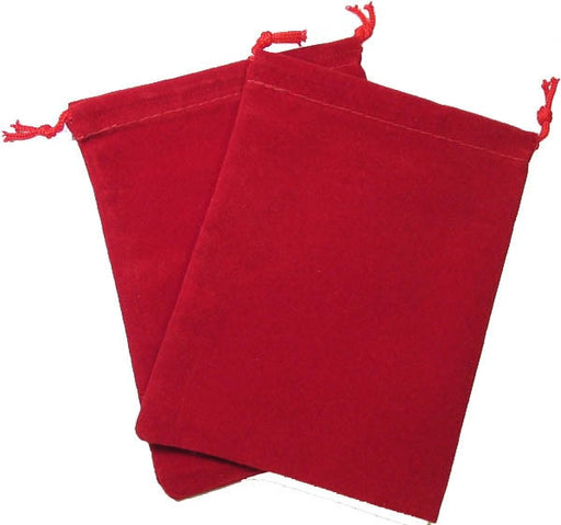 Dice Bag Suedecloth Large Red