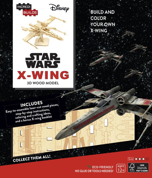 Incredibuilds Star Wars X Wing 3D Wood Model
