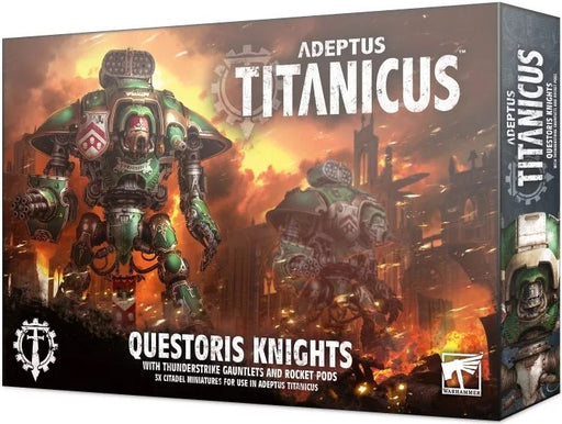 Adeptus Titanicus Questoris Knights with Thunderstrike Gauntlets and Rocket Pods