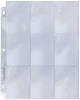 Ultra Pro 9 Pocket Page Silver Series Single Sheet