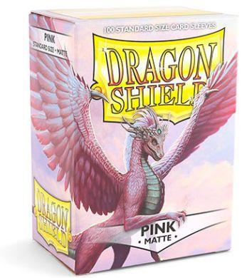 Dragon Shield 100 Count Standard Matte Sleeve: Pink