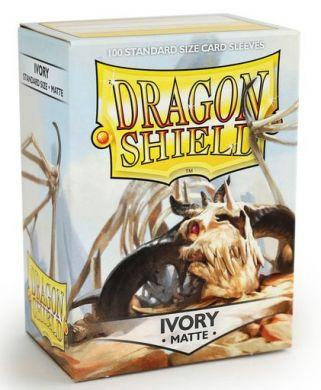 Dragon Shield 100 Count Standard Matte Sleeve: Ivory