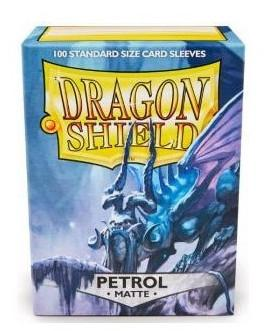 Dragon Shield 100 Count Standard Matte Sleeve: Petroleum