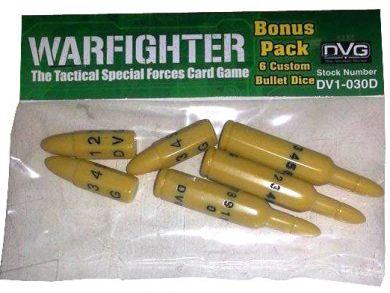 Warfighter Expansion #4: 6 Custom Bullet Dice